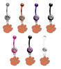 Clemson Tigers NCAA College Belly Button Navel Ring - Pick Your Color