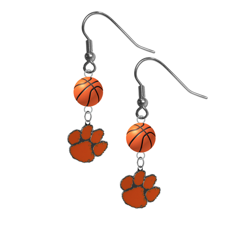 Clemson Tigers NCAA Basketball Dangle Earrings