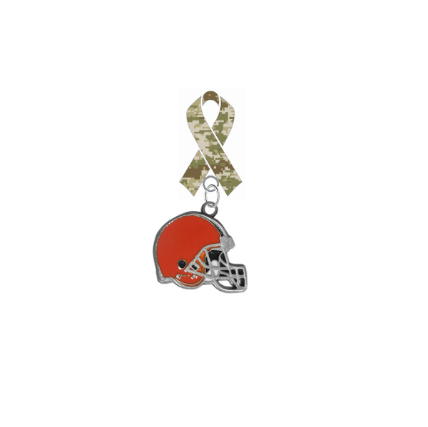 Cleveland Browns NFL Salute to Service Military Appreciation Camo Ribbon Lapel Pin