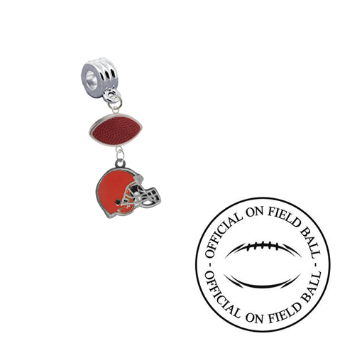 Cleveland Browns On Field Football Universal European Bracelet Charm (Pandora Compatible)