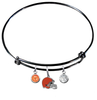 Cleveland Browns Black NFL Expandable Wire Bangle Charm Bracelet