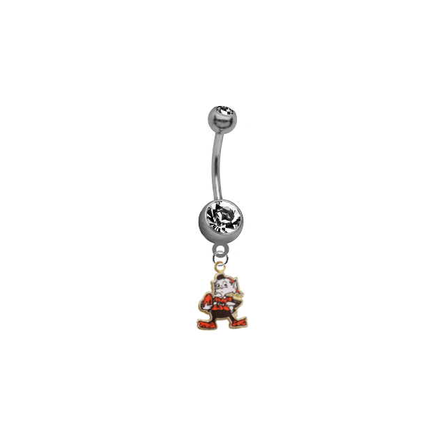 Cleveland Browns Mascot NFL Football Belly Button Navel Ring