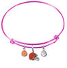 Cleveland Browns Pink NFL Expandable Wire Bangle Charm Bracelet