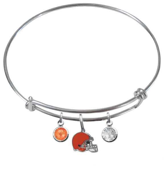 Cleveland Browns NFL Expandable Wire Bangle Charm Bracelet