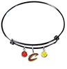 Cleveland Cavaliers Style 2 BLACK Color Edition Expandable Wire Bangle Charm Bracelet