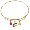 Cleveland Cavaliers Style 2 GOLD Color Edition Expandable Wire Bangle Charm Bracelet