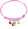 Cleveland Cavaliers Style 2 PINK Color Edition Expandable Wire Bangle Charm Bracelet