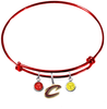 Cleveland Cavaliers Style 2 RED Color Edition Expandable Wire Bangle Charm Bracelet