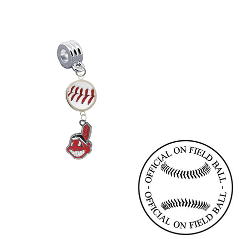 Cleveland Indians On Field Baseball Universal European Bracelet Charm (Pandora Compatible)