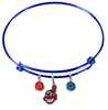 Cleveland Indians Blue MLB Expandable Wire Bangle Charm Bracelet