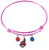 Cleveland Indians Pink MLB Expandable Wire Bangle Charm Bracelet