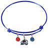 Colorado Avalanche Color Edition BLUE Expandable Wire Bangle Charm Bracelet