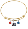 Colorado Avalanche Color Edition GOLD Expandable Wire Bangle Charm Bracelet