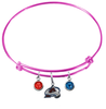 Colorado Avalanche Color Edition PINK Expandable Wire Bangle Charm Bracelet
