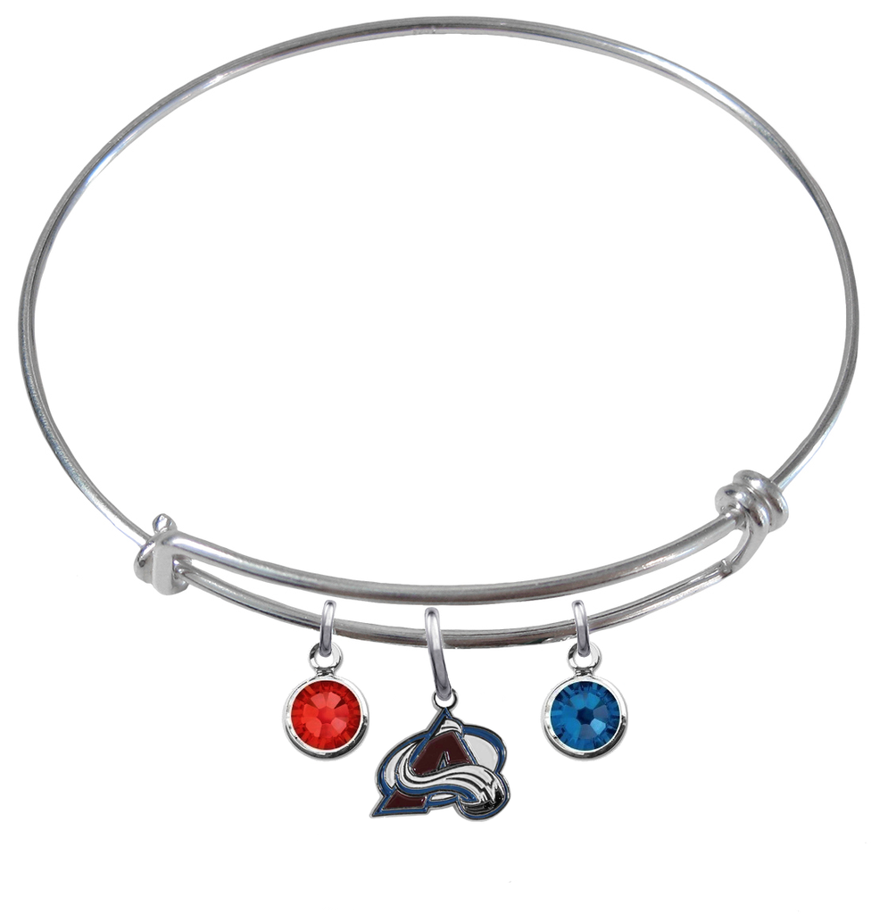 Colorado Avalanche NHL Expandable Wire Bangle Charm Bracelet