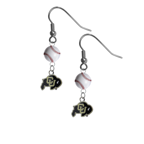 Colorado Buffaloes NCAA Baseball Dangle Earrings