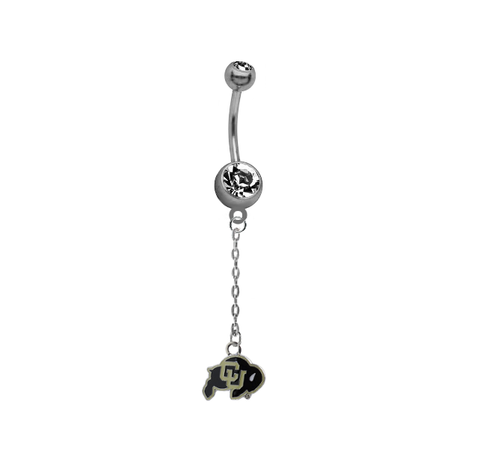 Colorado Buffaloes Dangle Chain Belly Button Navel Ring