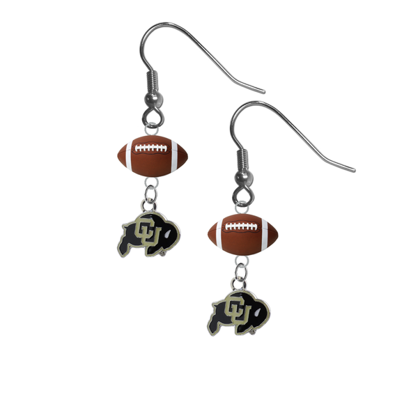 Colorado Buffaloes NCAA Football Dangle Earrings