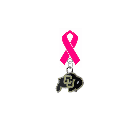 Colorado Buffaloes Breast Cancer Awareness / Mothers Day Pink Ribbon Lapel Pin