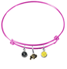 Colorado Buffaloes Pink Expandable Wire Bangle Charm Bracelet