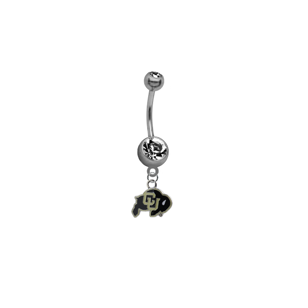 Colorado Buffaloes SILVER College Belly Button Navel Ring
