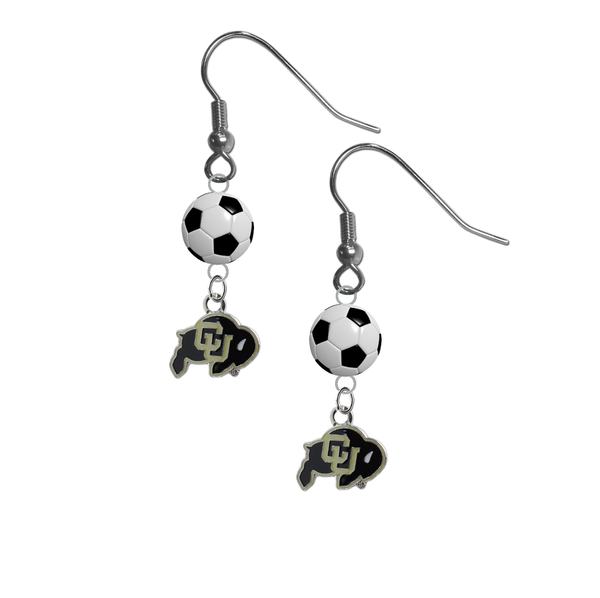 Colorado Buffaloes NCAA Soccer Dangle Earrings