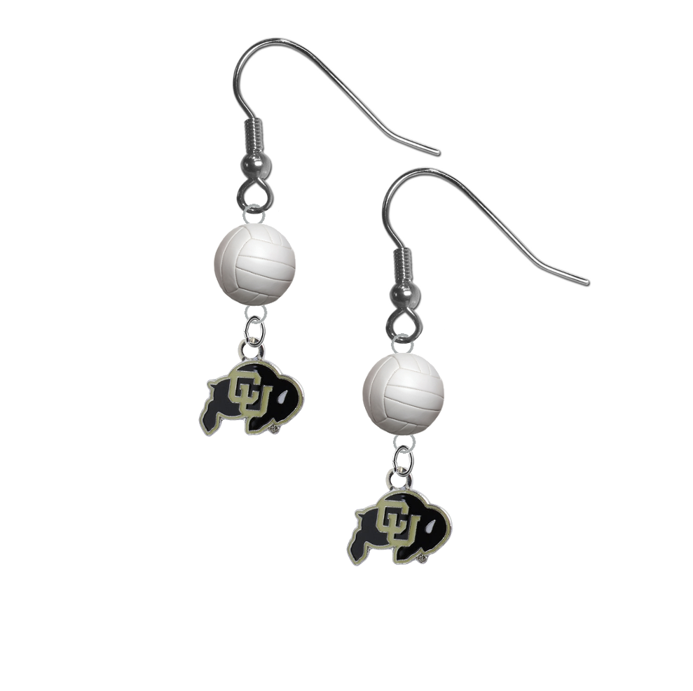 Colorado Buffaloes NCAA Volleyball Dangle Earrings