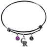 Colorado Rockies Black MLB Expandable Wire Bangle Charm Bracelet