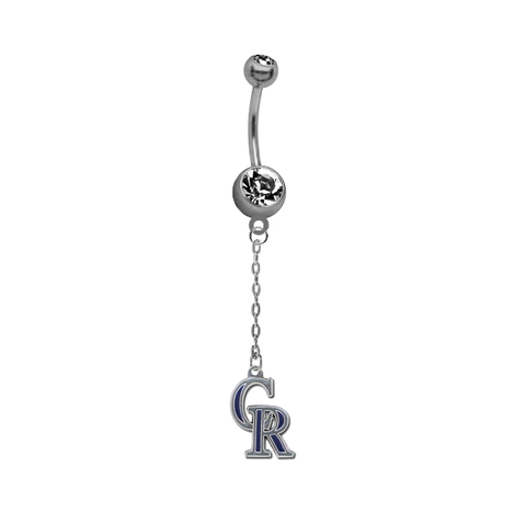 Colorado Rockies Dangle Chain Belly Button Navel Ring