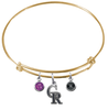 Colorado Rockies Gold MLB Expandable Wire Bangle Charm Bracelet