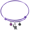 Colorado Rockies Purple MLB Expandable Wire Bangle Charm Bracelet