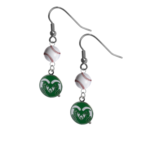 Colorado State Rams NCAA Baseball Dangle Earrings