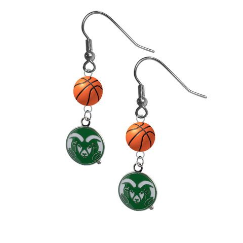 Colorado State Rams NCAA Basketball Dangle Earrings