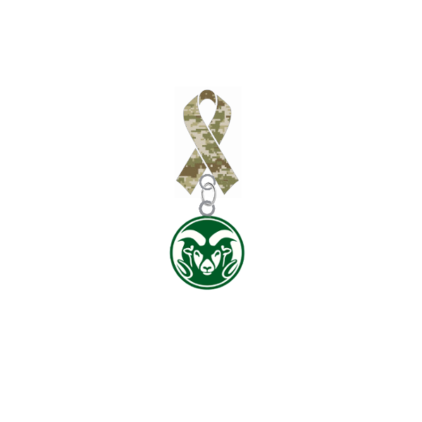 Colorado State Rams Salute to Service Military Appreciation Camo Ribbon Lapel Pin