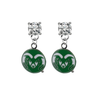 Colorado State Rams CLEAR Swarovski Crystal Stud Rhinestone Earrings