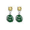 Colorado State Rams GOLD Swarovski Crystal Stud Rhinestone Earrings