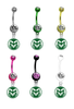 Colorado State Rams NCAA College Belly Button Navel Ring - Pick Your Color