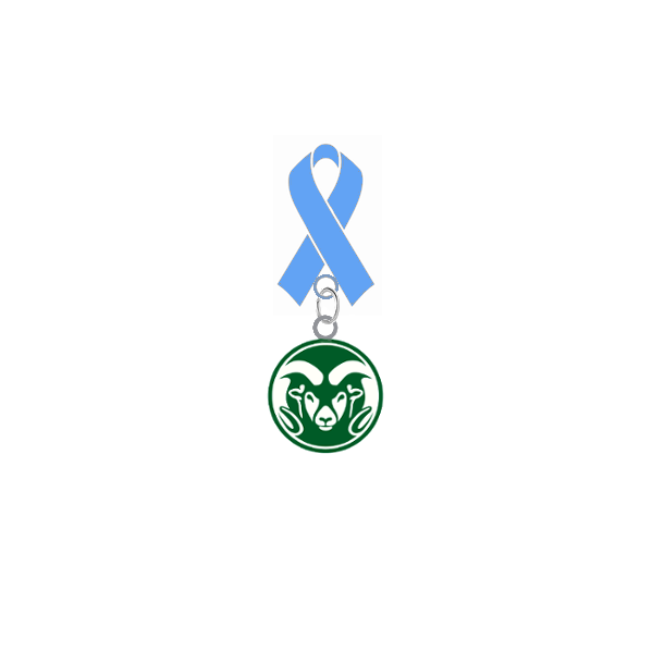 Colorado State Rams Prostate Cancer Awareness / Fathers Day Light Blue Ribbon Lapel Pin