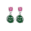 Colorado State Rams PINK Swarovski Crystal Stud Rhinestone Earrings