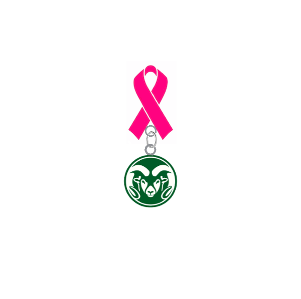 Colorado State Rams Breast Cancer Awareness / Mothers Day Pink Ribbon Lapel Pin