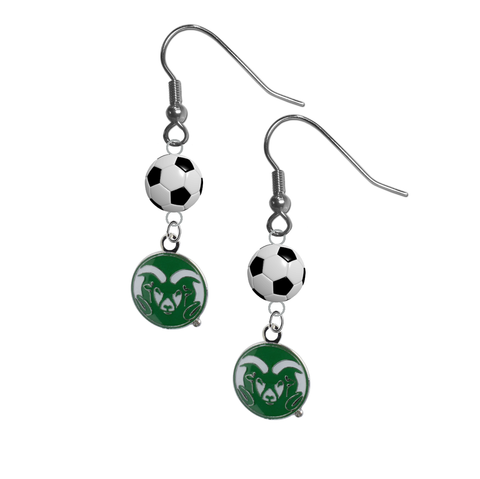 Colorado State Rams NCAA Soccer Dangle Earrings