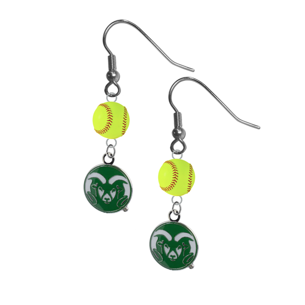 Colorado State Rams NCAA Fastpitch Softball Dangle Earrings