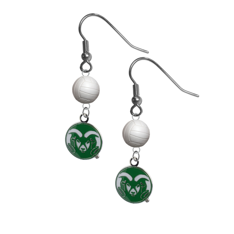 Colorado State Rams NCAA Volleyball Dangle Earrings