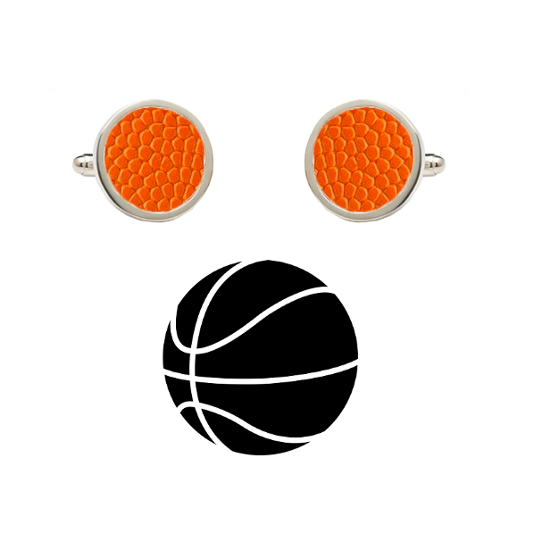 Wisconsin Badgers Authentic On Court NCAA Basketball Game Ball Cufflinks