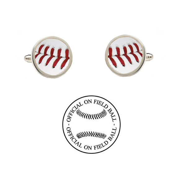 Wyoming Cowboys Authentic On Field NCAA Baseball Game Ball Cufflinks