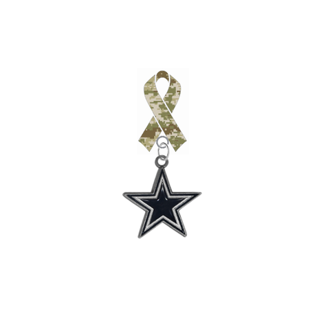 Dallas Cowboys NFL Salute to Service Military Appreciation Camo Ribbon Lapel Pin