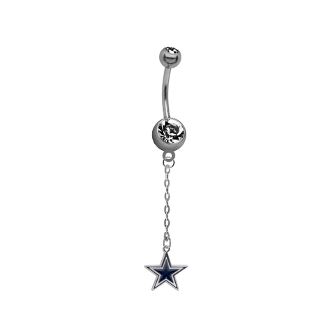 Dallas Cowboys Chain NFL Football Belly Button Navel Ring
