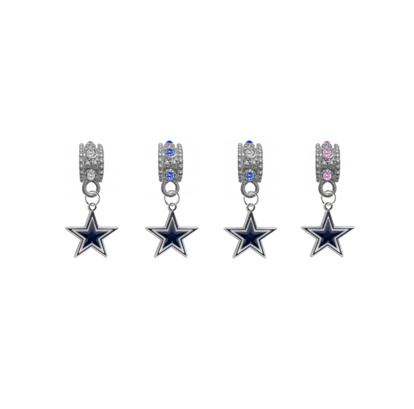 Dallas Cowboys NFL Football Crystal Rhinestone European Bracelet Charm