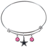 Dallas Cowboys NFL Expandable Wire Bangle Charm Bracelet