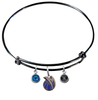 Dallas Mavericks BLACK Color Edition Expandable Wire Bangle Charm Bracelet